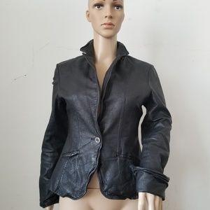 Jakett New York Leather Moto Jacket XS